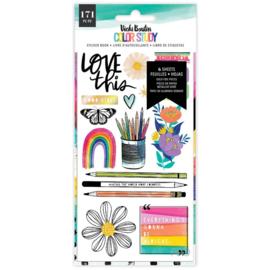Vicki Boutin Color Study Sticker Book W/Gold Foil Accents 171/Pkg