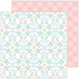 """PinkFresh Happy Blooms Double-Sided Cardstock 12""""X12""""  Cottage"""