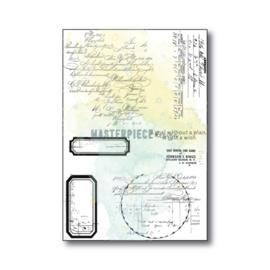 """MP Design Clearstamps 4×6″ – """"Curvy Letters"""""""
