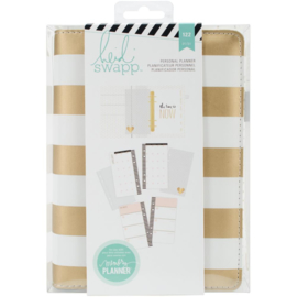 "Heidi Swapp Personal Memory Planner 5.5""X8"" Gold Foil Stripe"