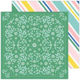 "PinkFresh Happy Blooms Double-Sided Cardstock 12""X12"" Handkerchief"