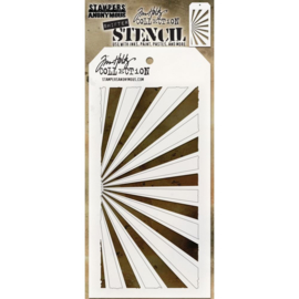 "Tim Holtz Layered Stencil 4.125""X8.5"" Shifter Rays"