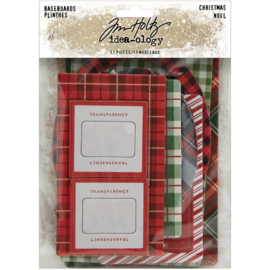 Tim Holtz Idea-Ology Chipboard Baseboards 17/Pkg Christmas