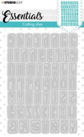 Studio Light Embossing Die Cut Stencil Alphabet Essentials nr.357 STENCILSL357
