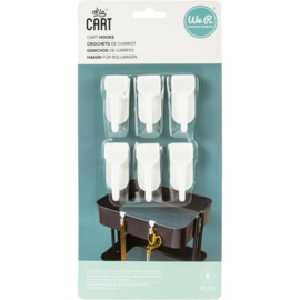 We R A La Cart Hooks 6/Pkg White