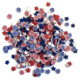 Buttons Galore Sprinkletz Embellishments 12g Star Spangled