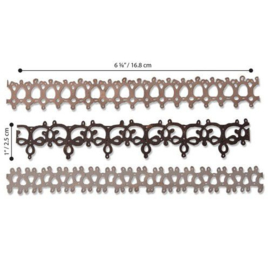 Sizzix Thinlits Die Set - 3PK Crochet #2 664413 Tim Holtz