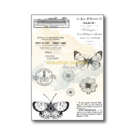 CJ Design Stamp 4×6″ – Butterfly Flowers