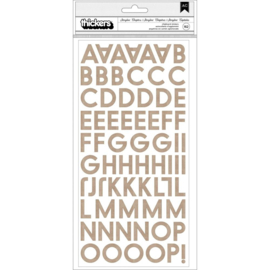 Heidi Swapp Storyline Chapters Thickers Stickers 175/Pkg Alphabet/Chipboard