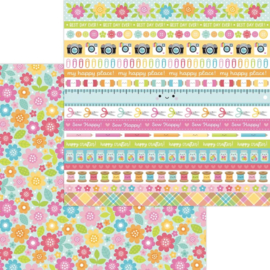 """Dooblebug Cute & Crafty Double-Sided Cardstock 12""""X12"""" Painted Posies preorder"""