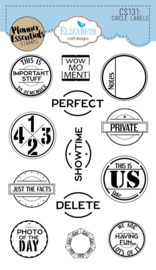 Elizabeth Craft Designs Circle Labels CS131