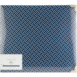 "Project Life D-Ring Album 12""X12"" Navy Weave"