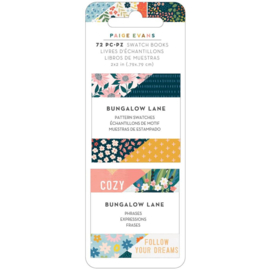 "Paige Evans Bungalow Lane Mini Swatch Books 2""X2"" 2/Pkg Pattern & Phrase, 36 Sheets Each preorder"