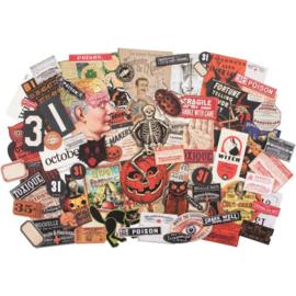 Tim Holtz Idea-Ology Ephemera Pack 82/Pkg Halloween