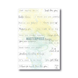 """MP Design Clearstamp 4×6″ – """"Label Quotes"""""""