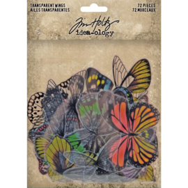 Tim Holtz Idea-Ology Transparent Acetate Wings 72/Pkg