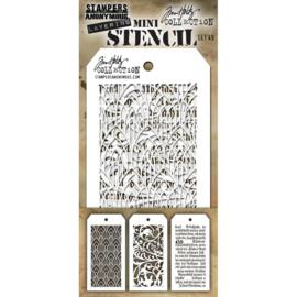 Tim Holtz Mini Layered Stencil Set 3/Pkg Set #49