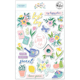PinkFresh Puffy Stickers Happy Blooms Preorder