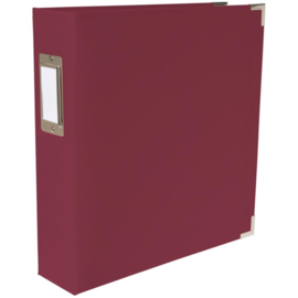 """We R Paper Wrapped D-Ring Album 8.5""""X11"""" Maroon"""