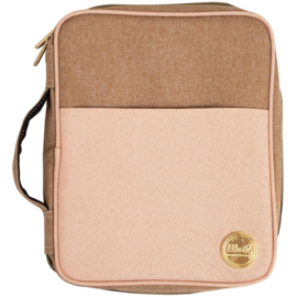 We R Memory Keepers Crafter's Carry Pouch Taupe & Pink