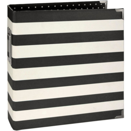"Simple Stories Sn@p! Designer Binder 6""X8"" Black Stripe"
