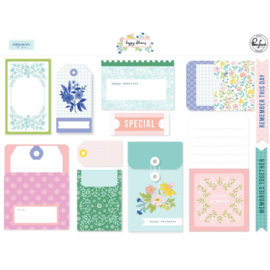 PinkFresh Happy Blooms Journaling Bits 14/Pkg Preorder