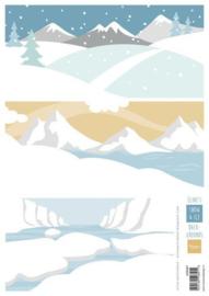 Marianne D Knipvel Eline's Achtergrond Sneeuw en ijs AK0087