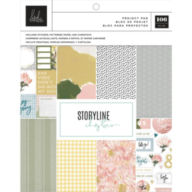 "Heidi Swapp Storyline Chapters Project Pad 7.5""X9.5"" The Planner, 106 Pieces"