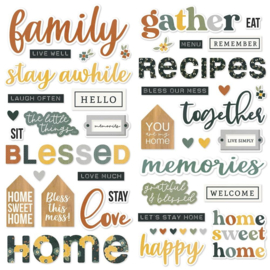 Simple Stories Hearth & Home Foam Stickers 61/Pkg preorder