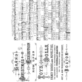 """Tim Holtz Cling Stamps 7""""X8.5"""" Music & Advert"""