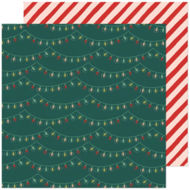 """Crate Paper Busy Sidewalks Double-Sided Cardstock 12""""X12"""" Holiday Glow"""