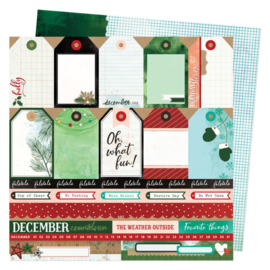 """Vicki Boutin Warm Wishes Double-Sided Cardstock 12""""X12"""" Oh What Fun"""