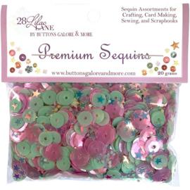 Buttons Galore 28 Lilac Lane Premium Sequins 20g Pegasus