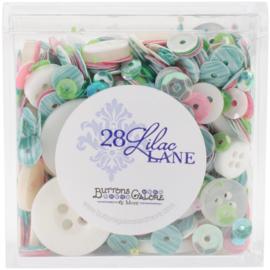 Buttons Galore 28 Lilac Lane Shaker Mix 75g Rainbow Unicorn