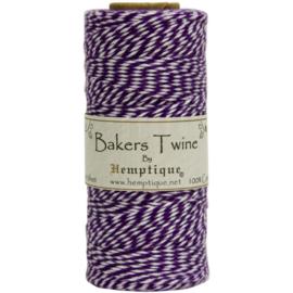 Hemptique Cotton Cotton Baker's Twine Spool 2-Ply 410' Purple