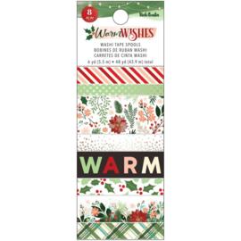 Vicki Boutin Warm Wishes Washi Tape 8/Pkg