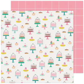"""Maggie Holmes Garden Party Double-Sided Cardstock 12""""X12"""" Pastry Party"""