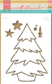 Marianne D Craft Stencil kerstboom by Marleen PS8046