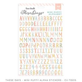 Cocoa Vanilla CV-TD015 THESE DAYS – MINI PUFFY ALPHA STICKERS  preorder