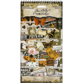 "Tim Holtz Idea-Ology Sticker Book 4.5""X8.75"" Curiosities, 315/Pkg"