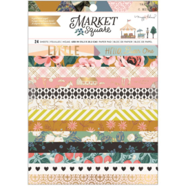 """American Crafts Single-Sided Paper Pad 6""""X8"""" 24/Pkg Maggie Holmes Market Square preorder"""