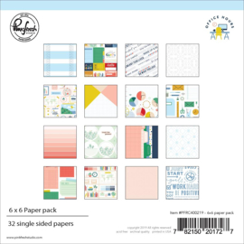 "Pinkfresh Studio Single-Sided Paper Pack 6""X6"" 32/Pkg Office Hours, 16 Designs/2 Each"