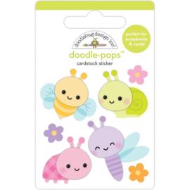 Doodlebug Doodle-Pops 3D Stickers Bug Babies