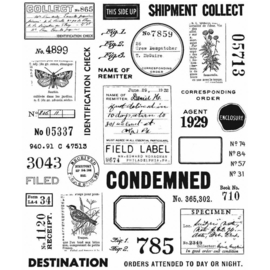 "Tim Holtz Cling Stamps 7""X8.5"" Field Notes"