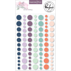 PinkFresh Enamel Dot Stickers Just A Little Lovely, 84/Pkg