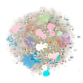Buttons Galore Sparkletz Embellishment Pack 10g Aspen