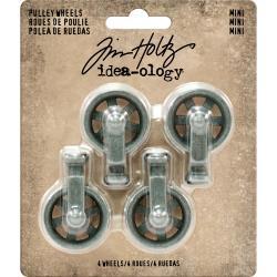 Tim Holtz Idea-Ology Metal Mini Pulley Wheels 4/Pkg
