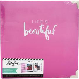 "Heidi Swapp Storyline2 D-Ring Album 8.5""X11"" Life's Beautiful"