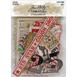 Tim Holtz Idea-Ology Layers 31/Pkg Christmas