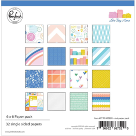 "Pinkfresh Studio Single-Sided Paper Pack 6""X6"" 32/Pkg Let's Stay Home, 16 Designs/2 Each"